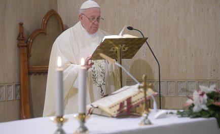"""17/01/2020 –El Papa Francisco advirtió del peligro de """"perder la conciencia del pecado"""" que lleva al cristiano a no encontrar la necesidad de confesarse. El Pontífice, en su homilía pronunciada durante la…"""