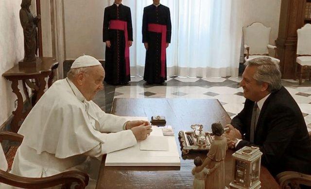La audiencia privada entre Alberto Fernández y el papa Francisco