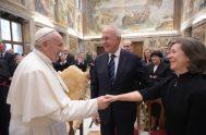 11/02/2020 –El Papa Francisco recibió a la Orden de los Caballeros de Colón fundada hace 100 años por el Venerable Mc Givney y…