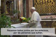 """25/03/2020 – En una edición especial de """"El Video del Papa"""" el Santo Padre pide rezar por los enfermos y los que sufren…"""