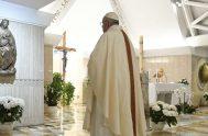 22/04/2020 – En la misa celebrada este miércoles 22 de abril en la Capilla de Casa Sana Marta, el Papa Francisco pidió oraciones…