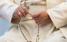 26/05/2020 –El Papa Francisco rezará el Rosario en la gruta de la Virgen de Lourdes de los Jardines del Vaticano…
