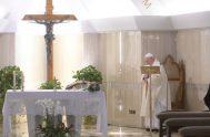 06/05/2020 –En la Misa matutina celebrada en la Capilla de la Casa Santa Marta, este miércoles de la IV Semana de Pascua, el…