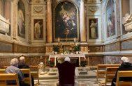 28/08/2020 – El Papa Francisco, según informó la Oficina de Prensa de la Santa Sede, visitó la Basílica de San Agustín en Campo…