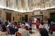 """18/09/2020 –Lo pidió el Papa Francisco esta mañana al recibir en audiencia a la delegación del semanario belga """"Tertio"""", que tras veinte años…"""
