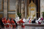"""26/01/2021 –El Papa Francisco animó a adorar a Dios con una adoración auténtica. Sólo así """"creceremos en el amor por todos los que…"""