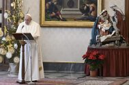 """06/01/2021 –El Papa Francisco invitó en el Ángelus de la Solemnidad de la Epifanía del Señor a ser """"testigos de los tesoros de…"""