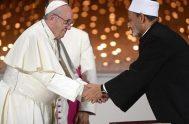 01/02/2021 –El Papa Francisco celebrará el jueves 4 de febrero el Día Internacional de la Fraternidad Humana en un evento virtual organizado por…