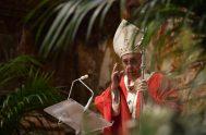 29/03/2021 –Al finalizar la Santa Misa en la Conmemoración del Ingreso del Señor Jesús a Jerusalén, que marca el inicio de la Semana…