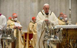 """01/04/2021 –Durante la homilía de la Misa Crismal el Papa enfatizó que """"el anuncio de la Buena…"""