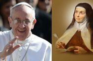 """16/04/2021 –El Papa envía un videomensaje al Congreso Internacional """"Mujer Excepcional"""" dedicado a Santa Teresa de Ávila, que finaliza hoy en la Universidad…"""