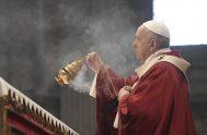 29/06/2021 – Hoy, martes 29 de junio el Papa Francisco celebró la Santa Misa en la Basílica Vaticana con ocasión de la Solemnidad…