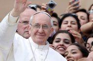 """05/08/2021 –El Papa Francisco alentó a los jóvenes a llevar el Evangelio """"con valor y entusiasmo"""" con ocasión del quinto aniversario de la…"""