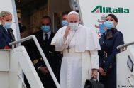 """17/08/2021 –El Papa Francisco no celebrará una Misa en público durante su corta visita en Glasgow el próximo noviembre. """"Puedo confirmar que los…"""