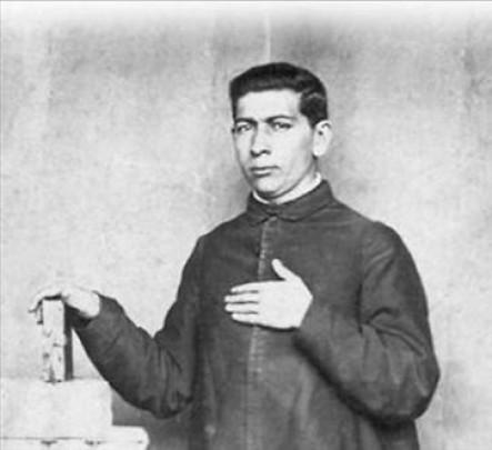 José Gabriel Brochero cuando era un joven sacerdote