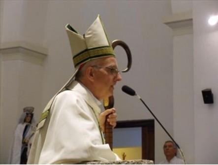 Monseñor Santiago Olivera durante la misa del sábado pasado.