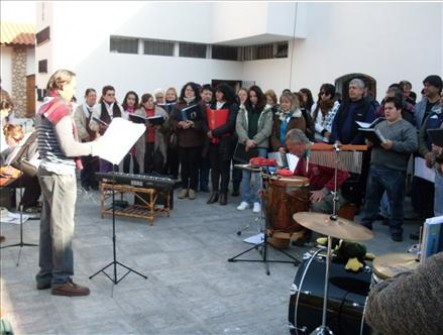 El coro brocheriano en pleno ensayo.