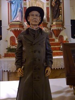 La imagen del Cura Gaucho, en la iglesia de Villa Cura Brochero.