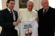 12/11/2013 - El fiscal Federal, Antonio Gustavo Gómez, se reunió nuevamente con con el Papa Francisco para hablar, esta vez, sobre la realidad…