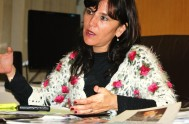 18/09/2014 – El obispo de La Rioja, monseñor Marcelo Colombo, y la diputada provincial de la UCR- Fuerza Cívica Riojana Inés Brizuela y…