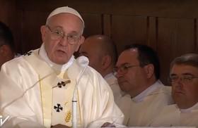 30/07/2016 -En la mañana de hoy, el Papa Francisco luego de visitar elSantuario de la Misericordia celebró la eucaristía con sacerdotes, religiosos, consagrados y seminaristas, en el Santuario dedicado a San Juan…