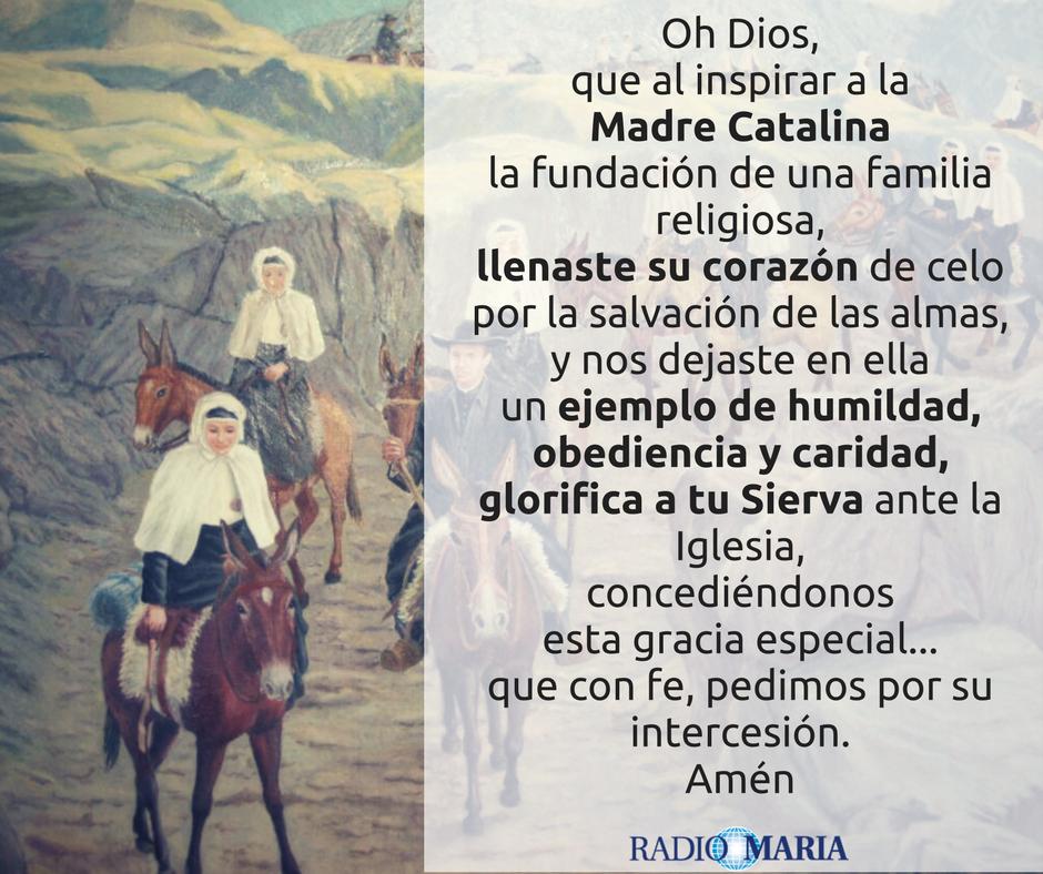 Oración Madre Catalina