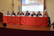 Imagen del debate entre candidatos que organizó la Pastoral Social de Córdoba con la Universidad Católica de Córdoba antes de las elecciones. El…