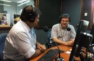 22/01/2018 – Los periodistas Sebastián Pfaffen, de Canal 12 de Córdoba, y María del Carmen Reto Bringas, de Radio María Perú, coincidieron con…