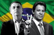 08/10/2018 – El balotaje se relizará el domingo 28 de octubre entre Bolsonaro y Haddad. Los candidatos ya se encuentran replanteando sus campañas.…