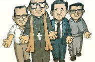 Ilustración: Cris Camargo   ¡Que vivan Los cuatro mártires! Enrique, y sus compañeros Carlos, Gabriel, Wenceslao en la tierra y en el…