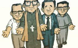 Ilustración: Cris Camargo   ¡Que vivan Los cuatro mártires! Enrique, y sus compañeros Carlos, Gabriel, Wenceslao en la tierra…
