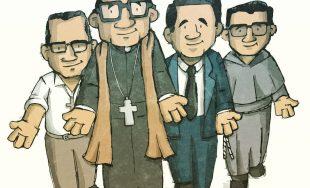 Ilustración: Cris Camargo   ¡Que vivan Los cuatro mártires! Enrique, y sus compañeros Carlos, Gabriel, Wenceslao…